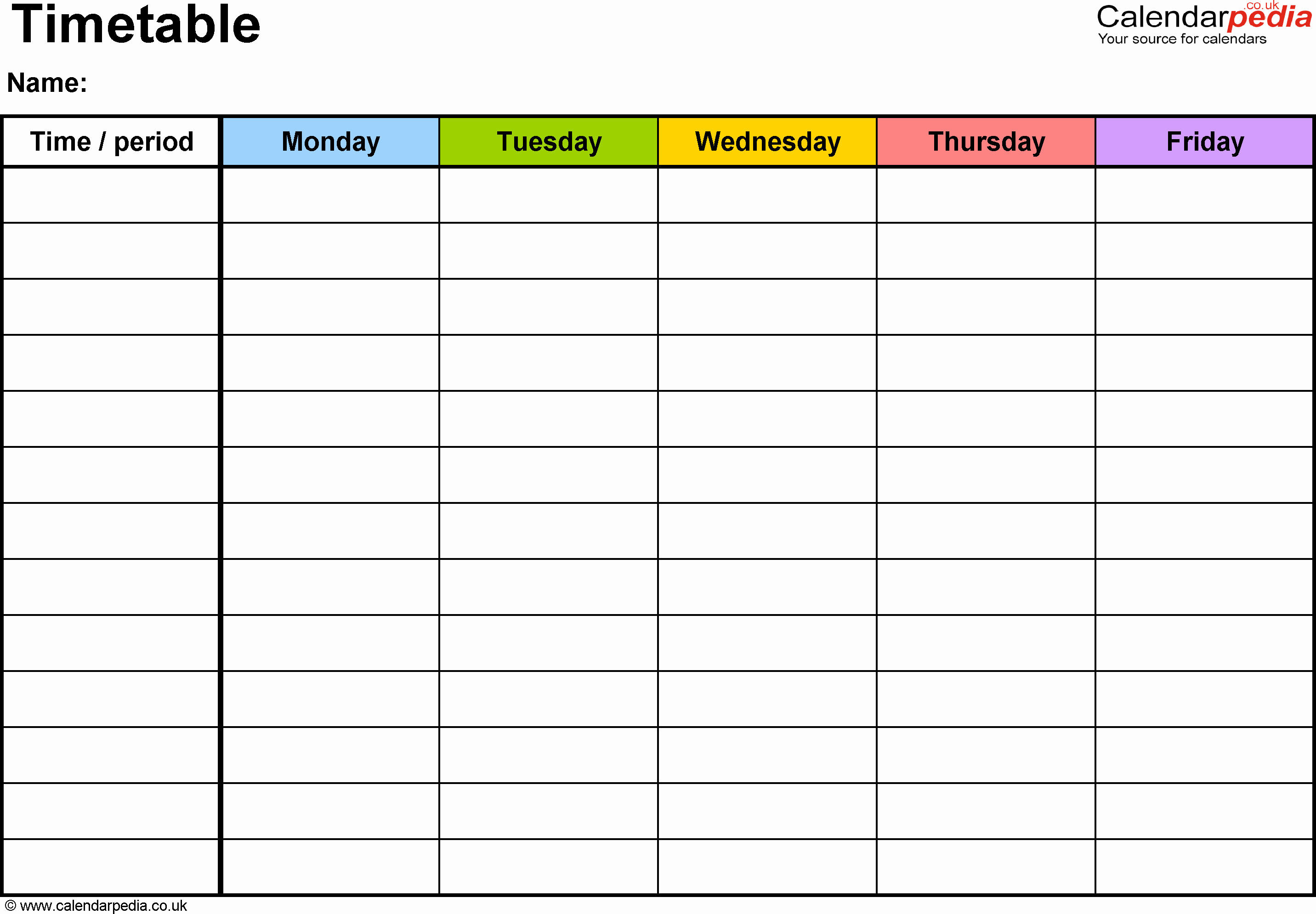 Class Schedule Maker for Teachers Inspirational Timetables as Free Printable Templates for Microsoft Word