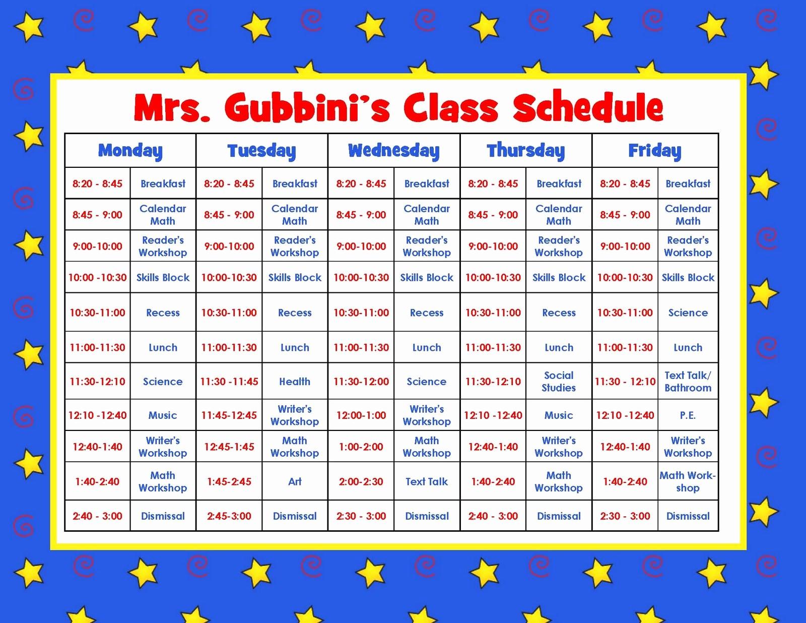 Class Schedule Maker for Teachers Lovely 8 Best Of Printable Teacher Schedule Free
