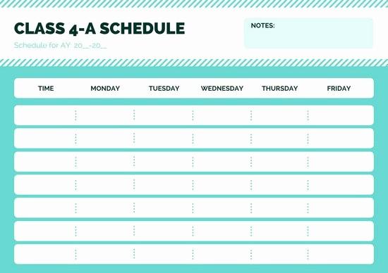 Class Schedule Maker for Teachers New Canva Blue Simple Class Schedule Macxmeuqa In