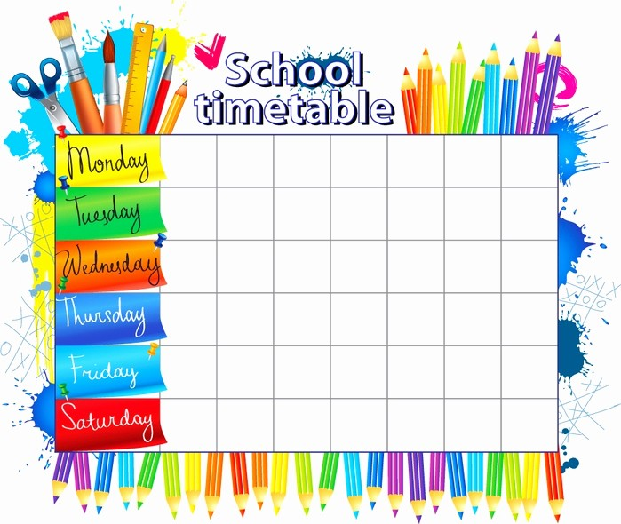 Class Schedule Maker for Teachers New Расписание уроков шаблоны распечатать