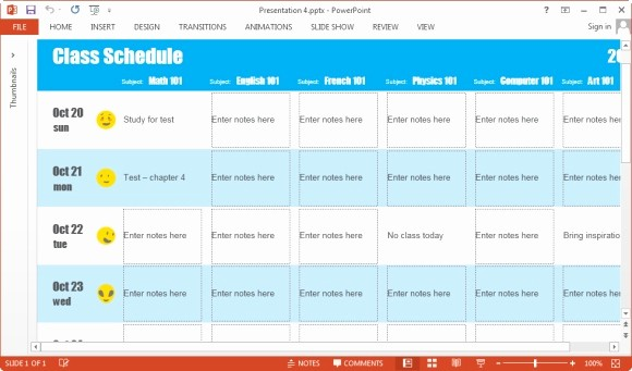 Class Schedule Maker for Teachers New How to Create Class Schedule by Subject Using Powerpoint