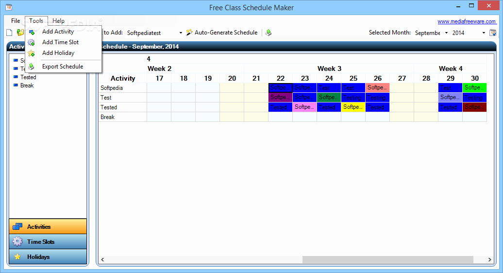 Class Schedule Maker Free Online Awesome Free Class Schedule Maker Download