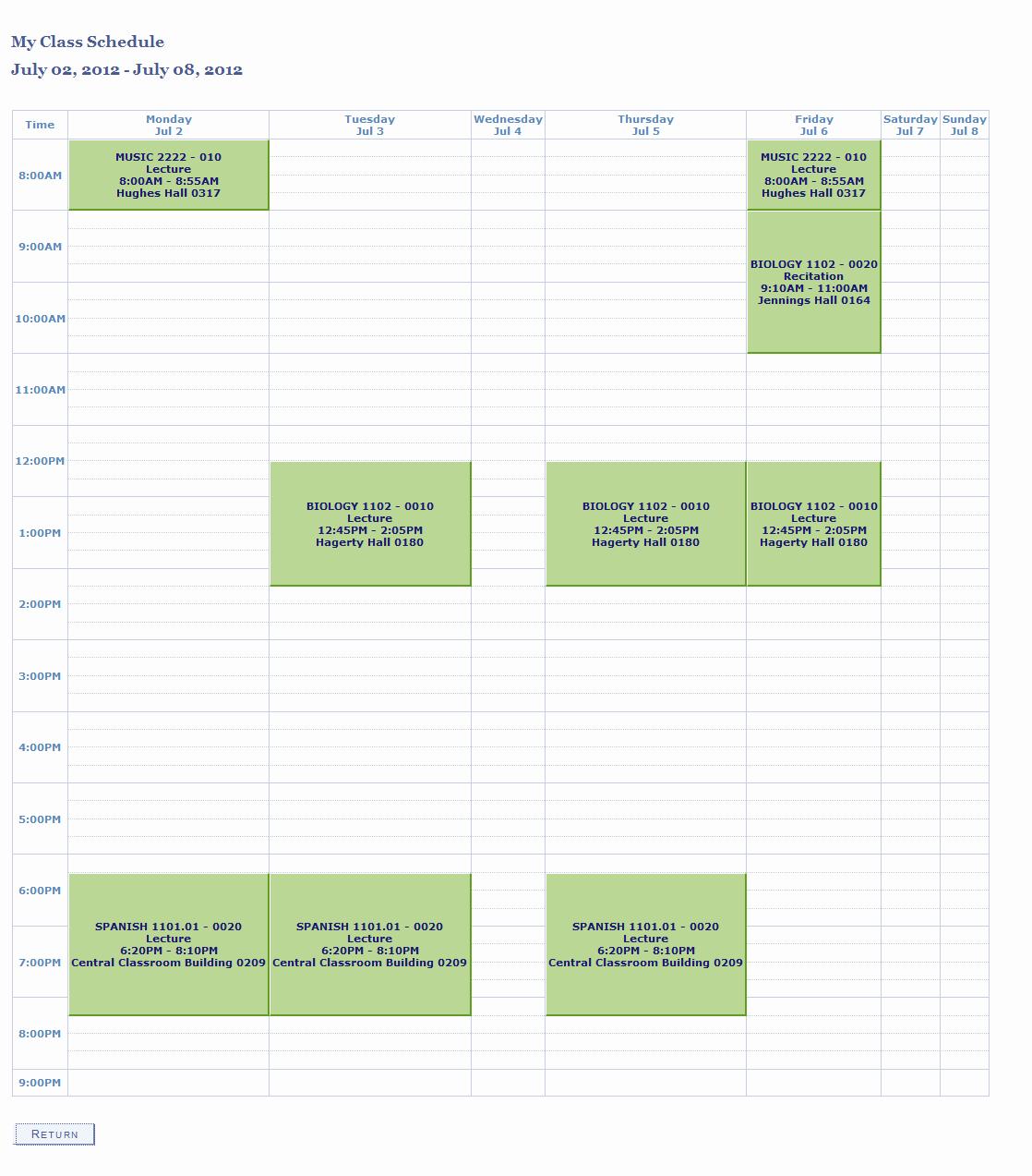 Class Schedule Maker Free Online Best Of Weekly Class Schedule Maker