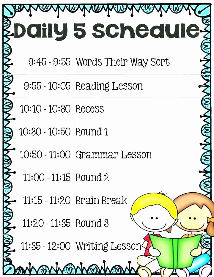 Class Schedule Maker Free Online Fresh Classroom Schedule Template Daily Schedule Cards Free