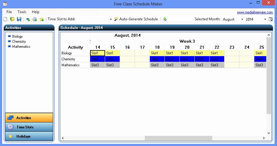 Class Schedule Maker Free Online New Free Class Schedule Maker Media Freeware Download