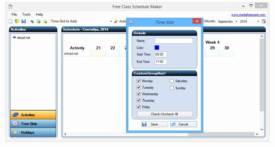 Class Schedule Maker Free Online New Free Schedule Maker Airingbranding