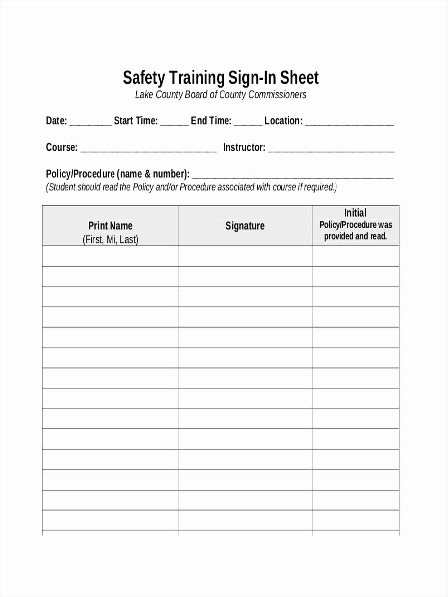 Class Sign In Sheet Template Best Of 10 Training Sheet Examples & Samples Pdf Word Pages