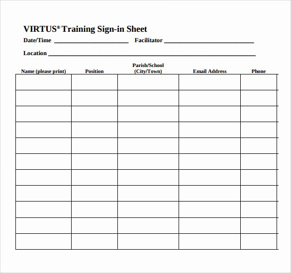 Class Sign In Sheet Template Elegant 34 Sample Sign In Sheet Templates – Pdf Word Apple