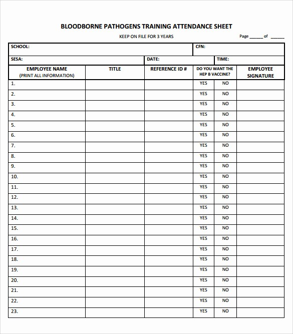 Class Sign In Sheet Template New 16 Sample Training Sign In Sheets