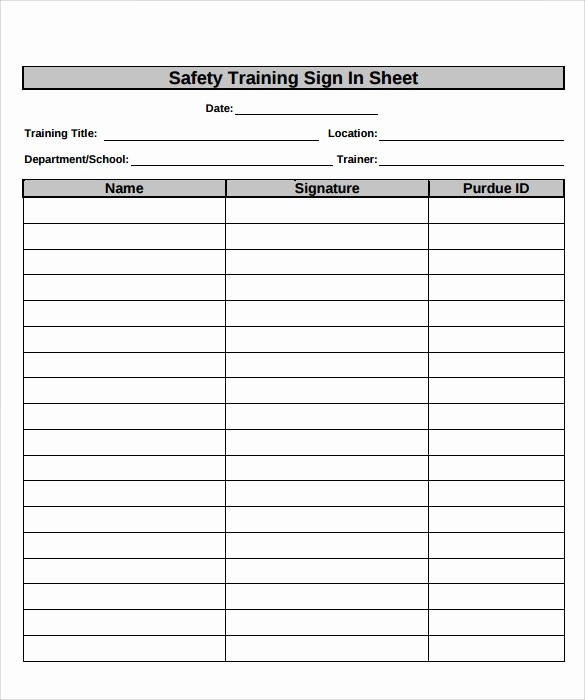 Class Sign In Sheet Template Unique 16 Sample Training Sign In Sheets