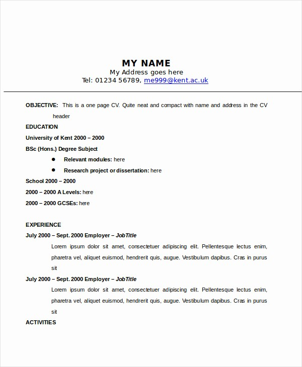 Classic Resume Template Word Download Awesome Classic Resume Template Word