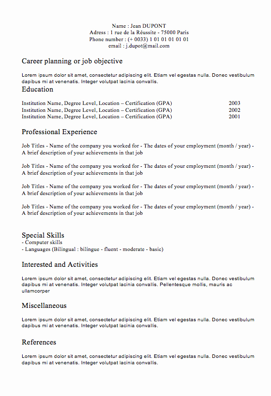 Classic Resume Template Word Download Awesome Free Resume Builder Classic Resume 1