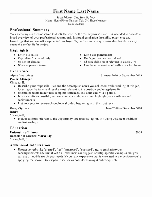 Classic Resume Template Word Download Fresh Classic Resume Template for Microsoft Word