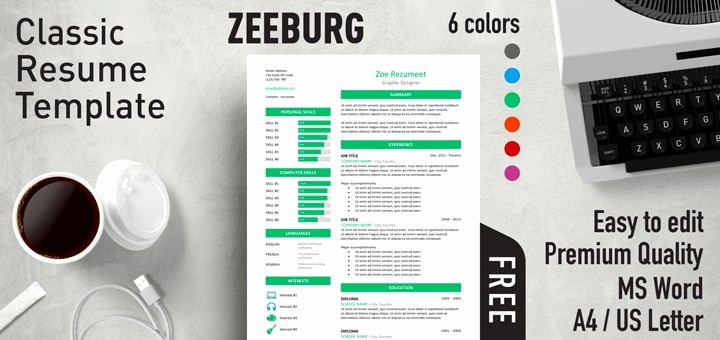 Classic Resume Template Word Download Lovely Effective Free Resume Templates