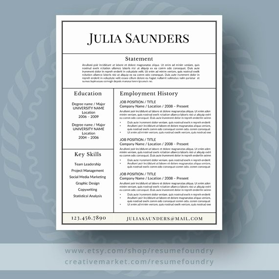 Classic Resume Template Word Download Luxury Classic Resume Template for Word 1 3 Page Resume Cover