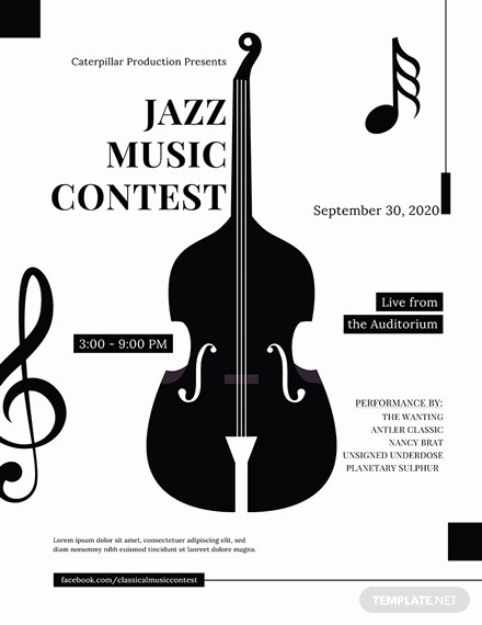 Classical Music Concert Program Template Beautiful Free Poster Templates Download Ready Made