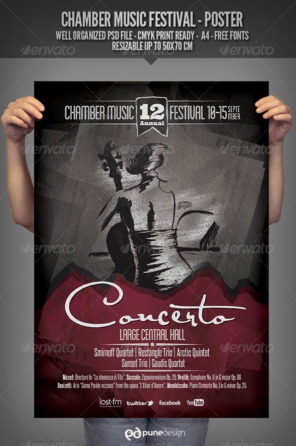 Classical Music Concert Program Template Best Of 20 Concert Poster & Flyer Templates