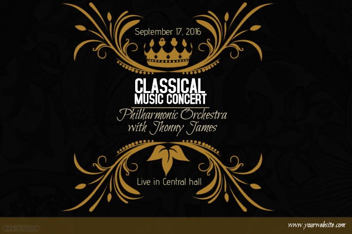 Classical Music Concert Program Template Best Of Classical Music Concert Gold Poster Template