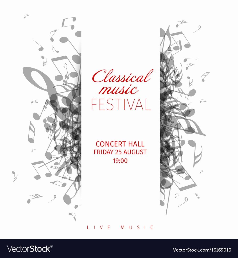 Classical Music Concert Program Template Fresh Classical Music Concert Poster Template Royalty Free Vector