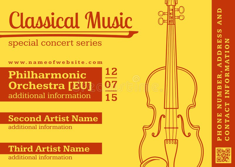 Classical Music Concert Program Template Fresh Classical Music Concert Violin Horizontal Music Flyer