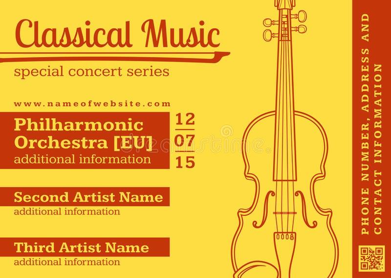Classical Music Concert Program Template Fresh Classical Music Concert Violin Horizontal Music Flyer