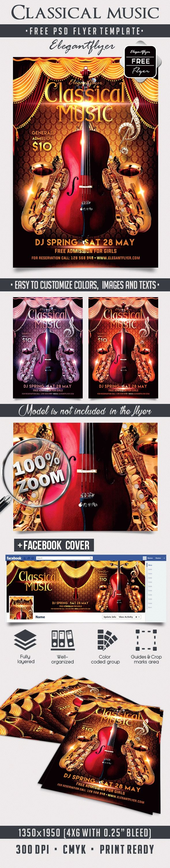 Classical Music Concert Program Template Fresh Classical Music – Free Flyer Psd Template – by Elegantflyer