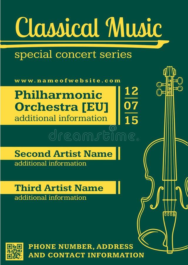 Classical Music Concert Program Template Inspirational Classical Music Concert Violin Vertical Music Flyer
