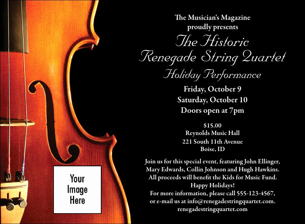 Classical Music Concert Program Template Inspirational Violin Invitation