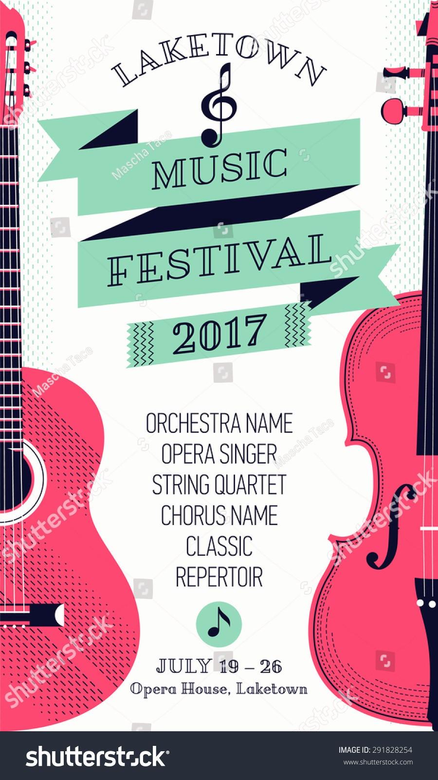 Classical Music Concert Program Template Luxury Beautiful Modern Classical Music Festival Poster Flyer
