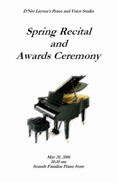 Classical Music Concert Program Template Luxury Recital Program Templates