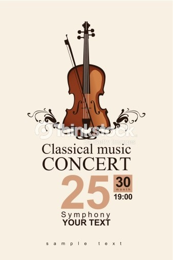 Classical Music Concert Program Template Unique Musica Classica Arte Vettoriale