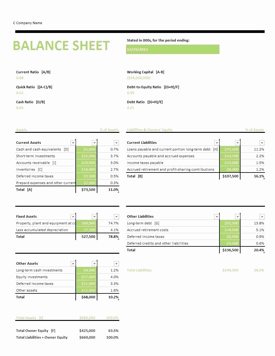 Classified Balance Sheet Template Excel Awesome Classified Balance Sheet Template Excel