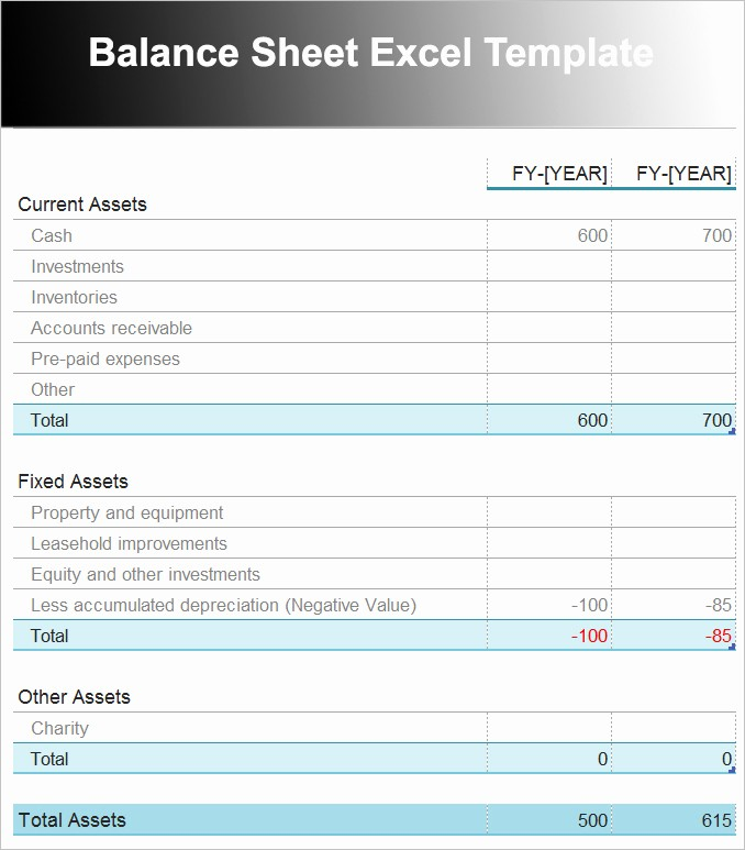 Classified Balance Sheet Template Excel Best Of Beaufiful Excel Balance Sheet Template Gallery