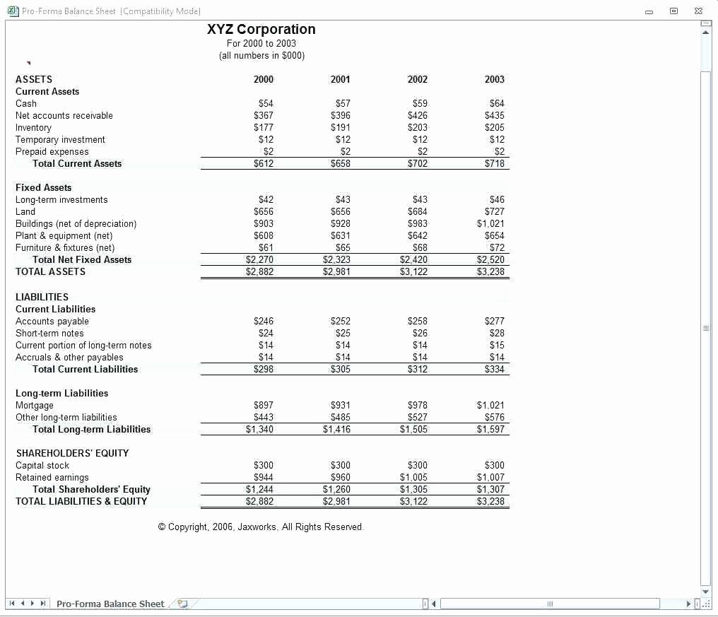 Classified Balance Sheet Template Excel New Classified Balance Sheet Template Excel