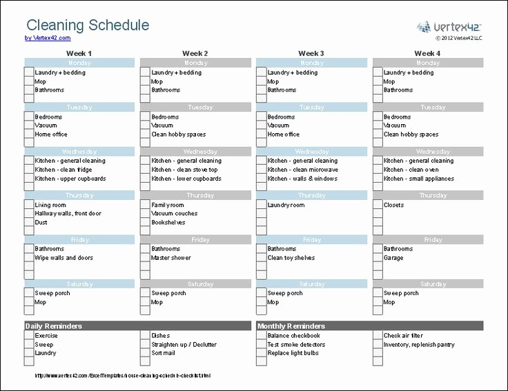 Cleaning Schedule Template for Home Awesome 25 Best Ideas About Cleaning Schedule Templates On