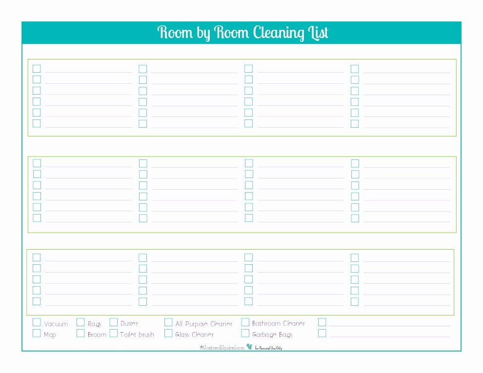 Cleaning Schedule Template for Home Awesome House Cleaning Schedule Template Free Driverlayer Search