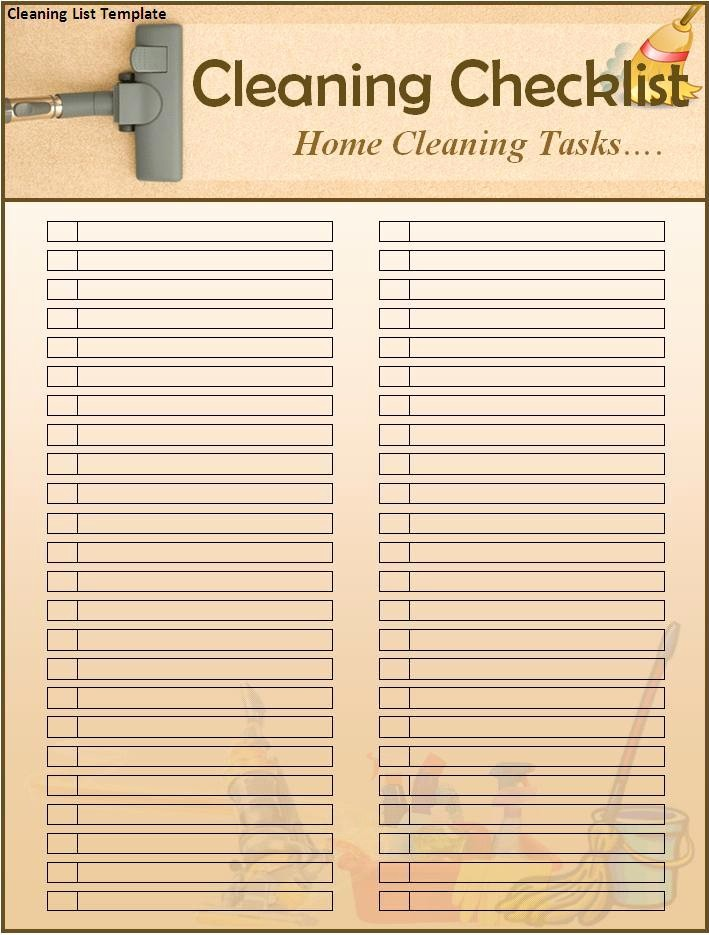 Cleaning Schedule Template for Home Beautiful Finest Cleaning List Template for House Fice Cleaning