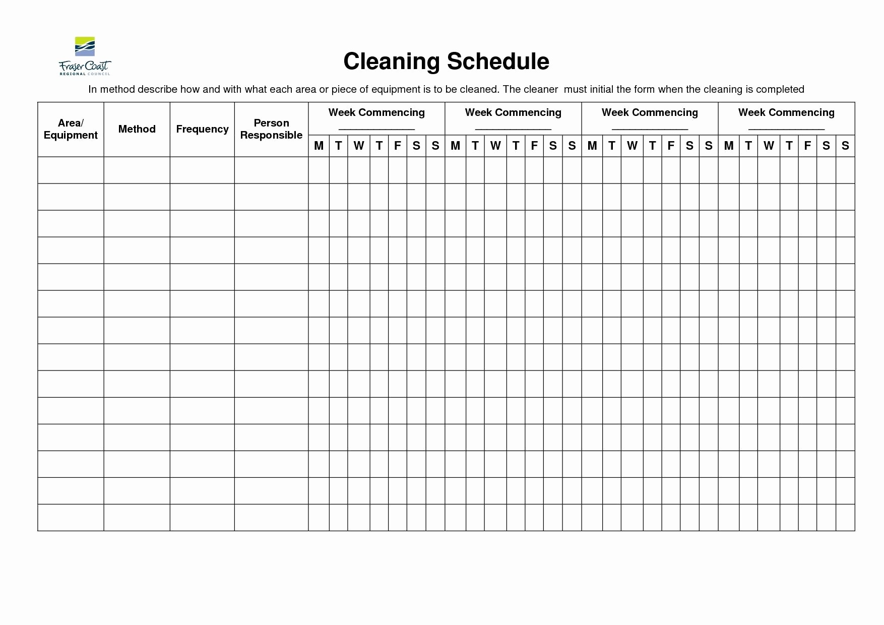 Cleaning Schedule Template for Home Elegant Amazing Of Stunning Stunning Bathroom Cleaning Checklist 2879
