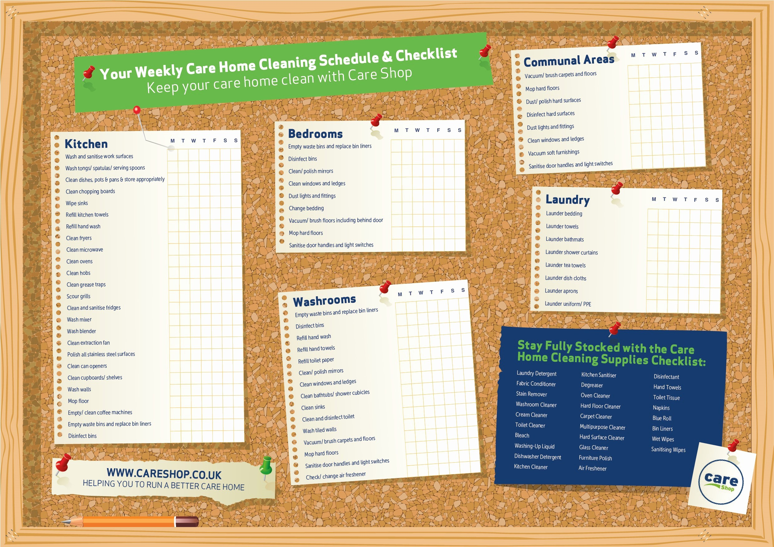 Cleaning Schedule Template for Home Luxury Free Download Your Care Home Cleaning Schedule