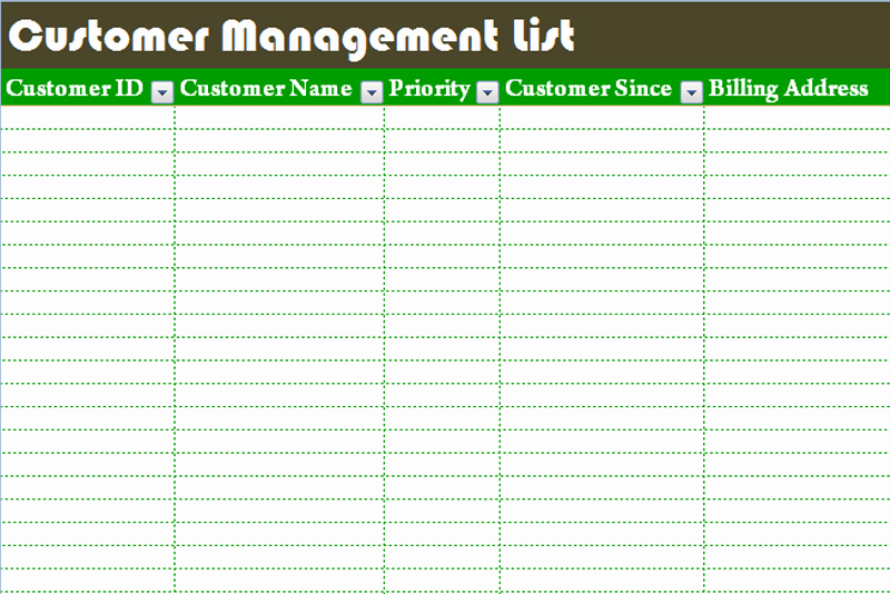 Client Database Template Excel Free Awesome Customer Management List Template Dotxes
