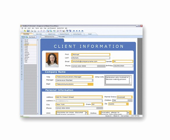 Client Database Template Excel Free Best Of Mydatabase Home and Business