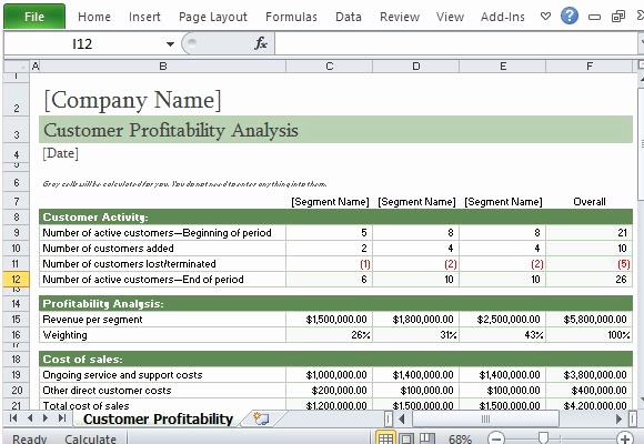 Client Database Template Excel Free Lovely How to Easily Perform A Customer Profitability Analysis In