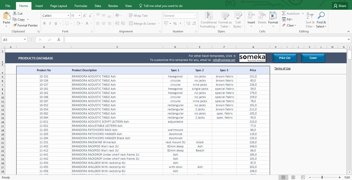 Client Database Template Excel Free Unique Price List Template In Excel