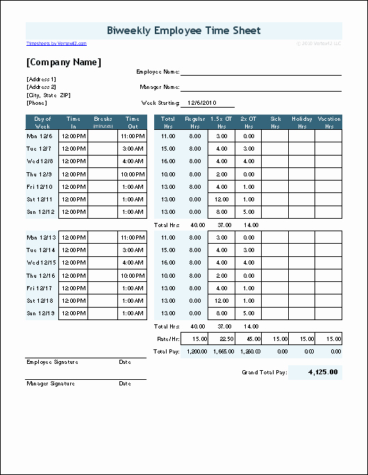 Clock In and Out Timesheet Elegant Time Sheet Template for Excel Timesheet Calculator