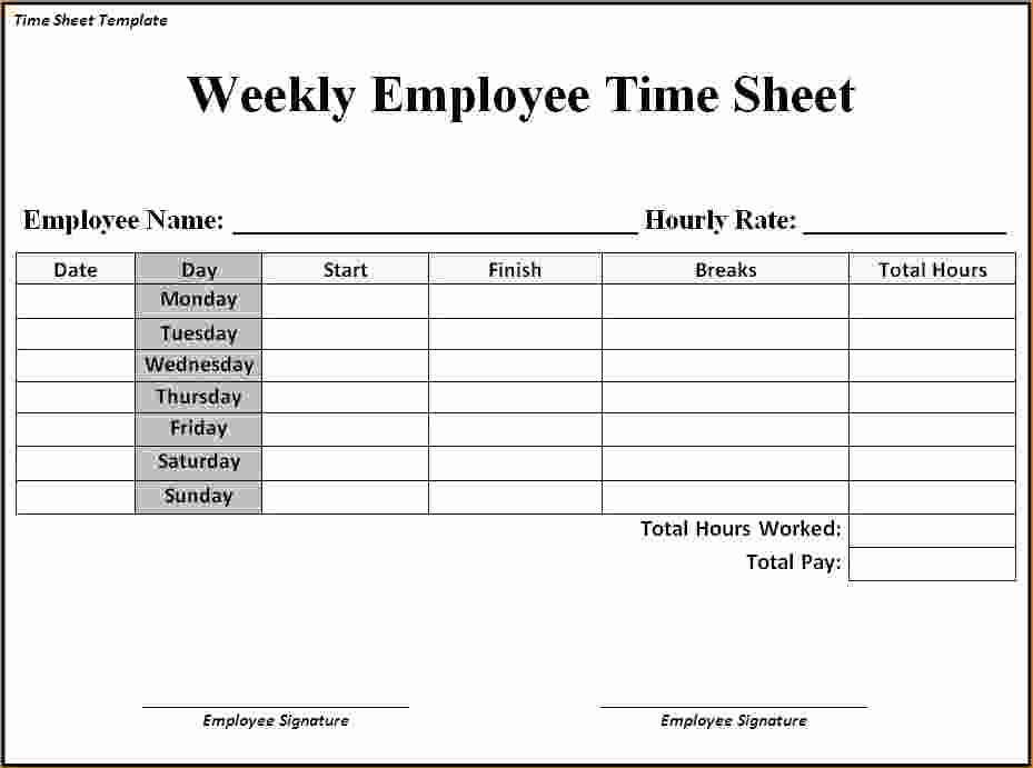 Clock In and Out Timesheet Lovely 7 Timesheet Template Word