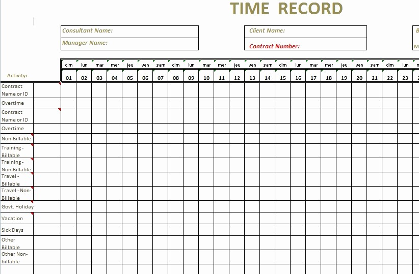 Clock In and Out Timesheet Unique Timesheet Template Excel