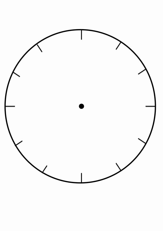 Clock In Clock Out Template Awesome Blank Clock Face Template Printable