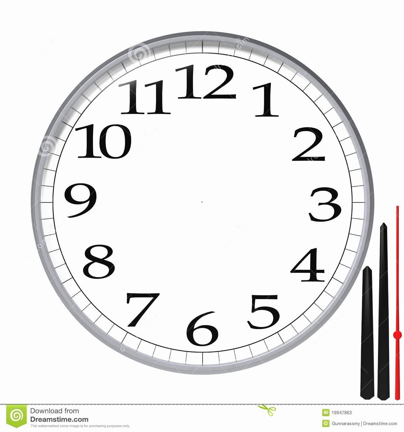 Clock In Clock Out Template Awesome Clock Template Stock Illustration Image Of Numerals