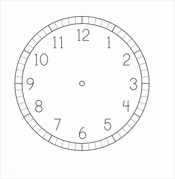 Clock In Clock Out Template Elegant 12 Clock Face Samples