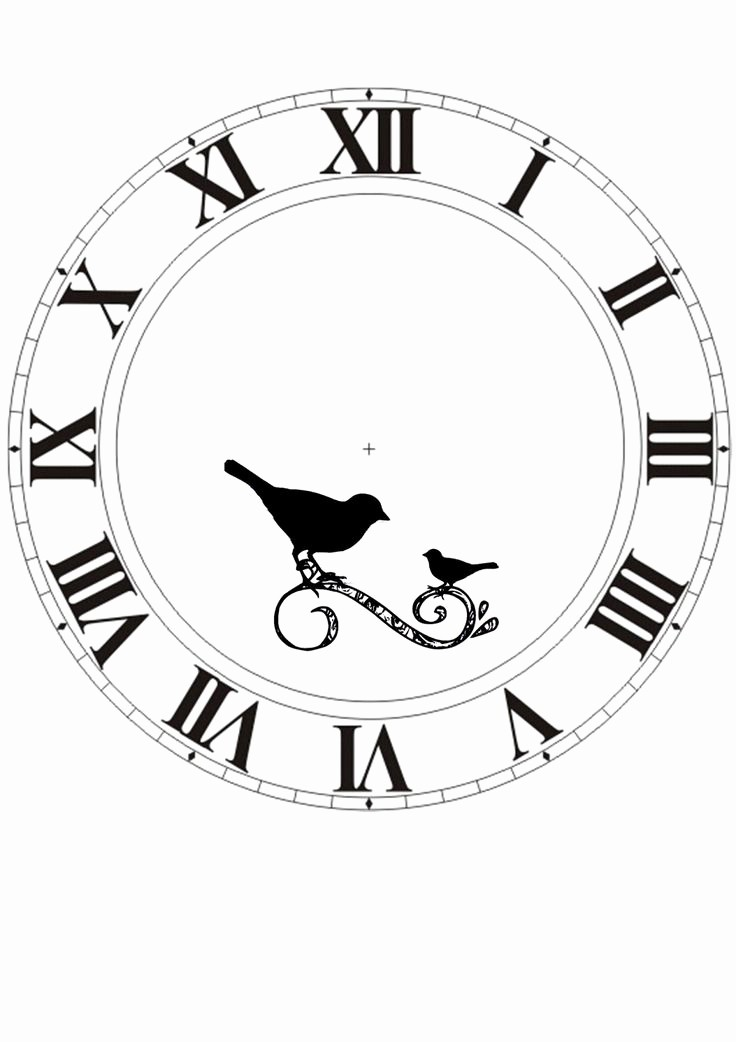 Clock In Clock Out Template Elegant Blank Clock Face Clipart